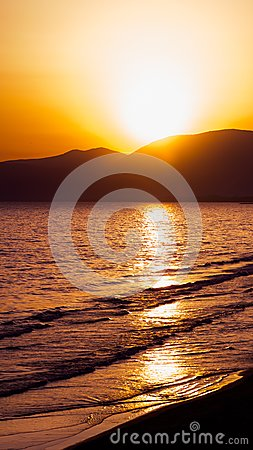 Free Sunset On The Beach Of Sperlonga, Italy Stock Images - 103619634