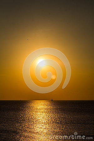 Free Sunset On The Gulf Of Finland Royalty Free Stock Images - 97290049