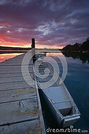 Free Sunset On The Harbor Stock Photos - 1235703