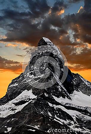 Free Sunset On The Matterhorn Stock Image - 20199641