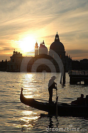 Free Sunset On Venice Bay Royalty Free Stock Photos - 4321928