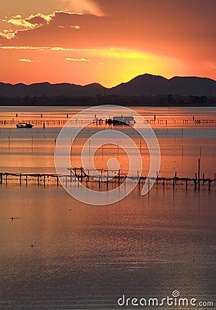 Free Sunset On Venice Lagoon Royalty Free Stock Photos - 66578
