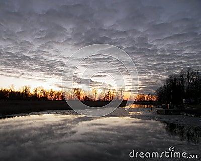 Sunset Ontario Inlet