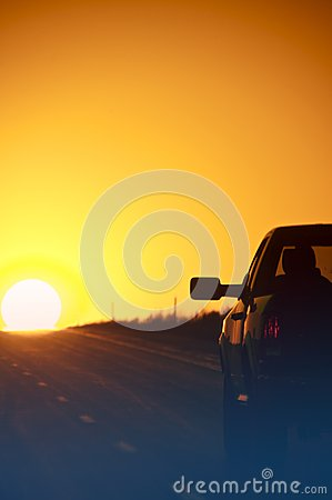 Free Sunset Outback Highway Royalty Free Stock Images - 24807569