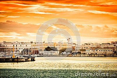 Sunset over Bari