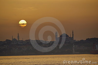Sunset over Bosporus