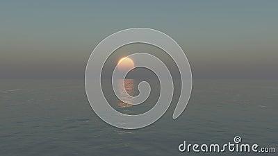 Calm sun setting