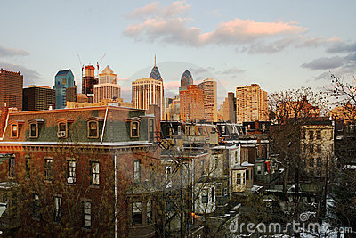 Sunset over Downtown Philadelphia