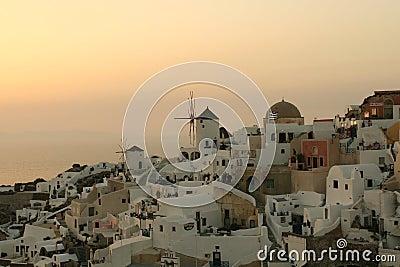 Sunset Over Greek Village