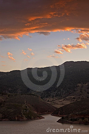 Sunset Over Horsetooth Lake