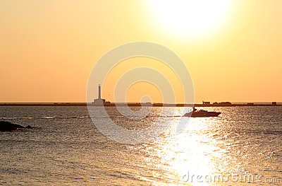 Sunset over the Ionian Sea, Gallipoli, Italy