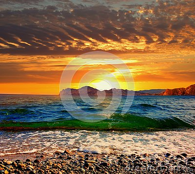 Free Sunset Over Karadag Stock Photo - 130397150