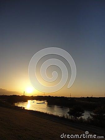 Free Sunset Over Kokai River Stock Image - 79560291