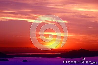 Sunset Over Lake Titicaca Peru - 4