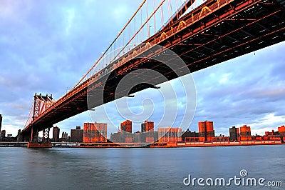 Sunset over Manhattan bridge