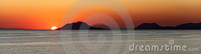 Sunset over the Mediterranean Islands