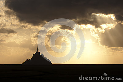 Sunset over Mont Saint Michel