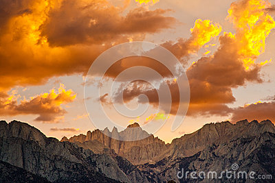 Sunset Over Mount Whitney