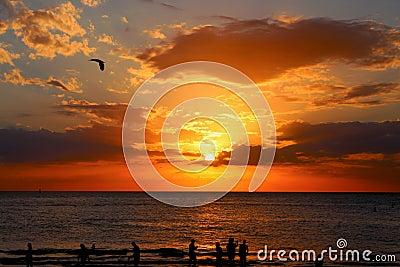 Sunset Over Open Sea Free Public Domain Cc0 Image