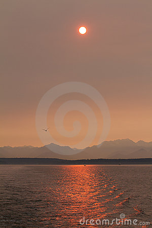 Sunset over Puget Sound