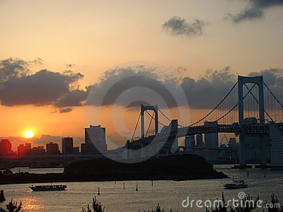Sunset over Rainbow Bridge
