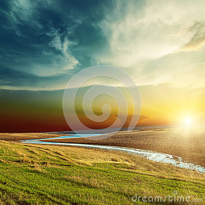 Free Sunset Over River Stock Photos - 29622213
