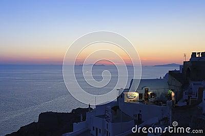 Sunset over Santorini, Oia