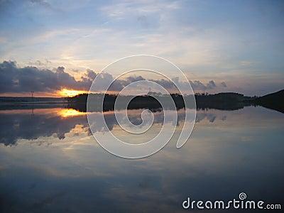Sunset over Taksdalsvatnet