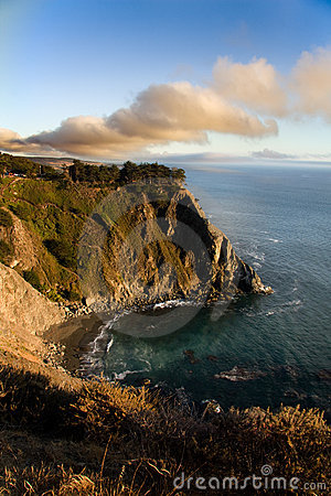 Free Sunset Over The Big Sur - California Royalty Free Stock Photos - 10953818