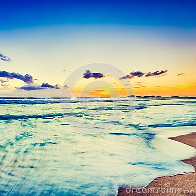 Free Sunset Over The Sea. Beautiful Landscape Stock Photography - 119208892