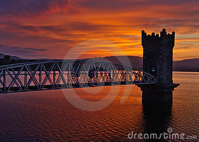 Sunset over tower bridge, Ireland