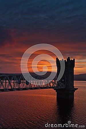 Sunset over tower bridge, Ireland
