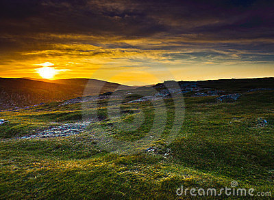 Sunset over Wicklow Mountains, Ireland