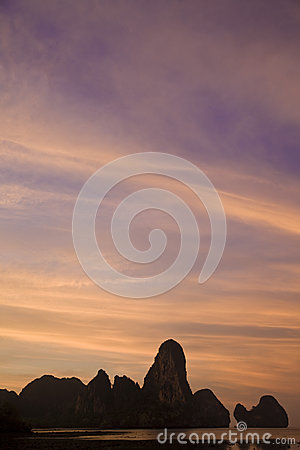 Sunset at paradise beach