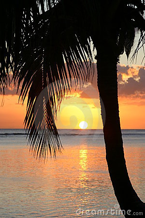 Sunset on Paradise Island