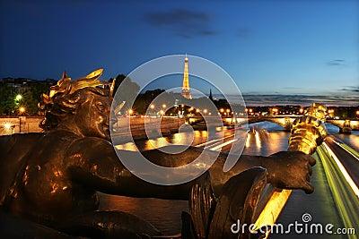 Sunset in Paris #7. Editorial Stock Photo