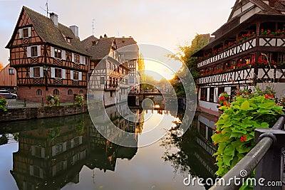 Sunset in Petite-France, Strasbourg, France