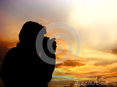 Sunset Photographer Silhouette