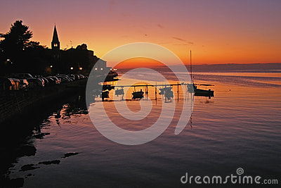 Sunset in Porec - Croatia