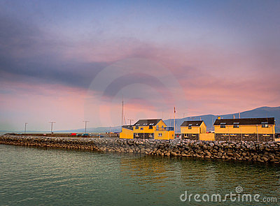 Sunset in port, Ireland