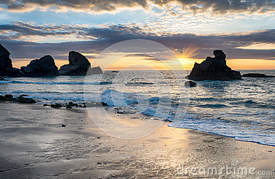 Sunset at Porthcothan