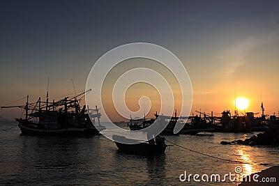 Sunset at prachuap bay,thailand