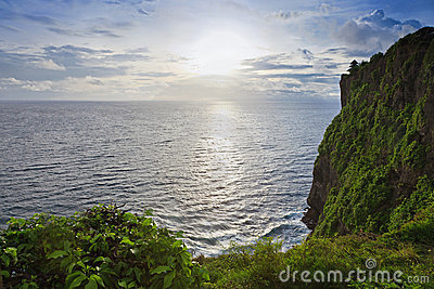 Sunset from the Pura Uluwatu temple on Bali