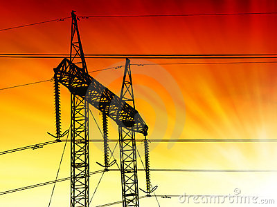 Sunset pylon