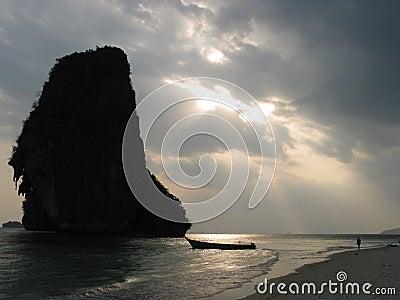 Sunset at Rai Leh beach, Krabi, Thailand