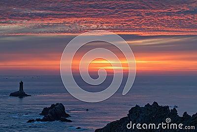 Sunset on raz point
