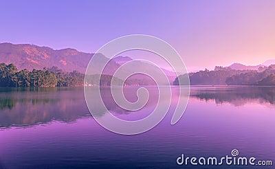 Sunset Reflecting In Mountain Lake Free Public Domain Cc0 Image