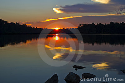 Sunset Reflection on the Lake