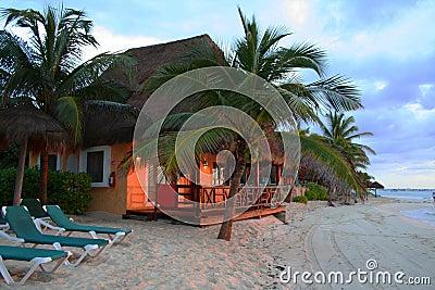 Sunset at Resort in Playa del Carmen - Mexico