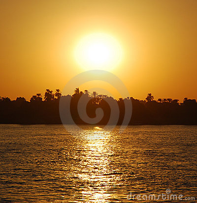 Sunset at river Nile